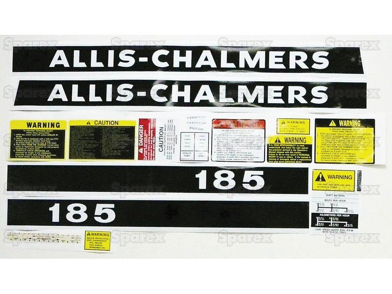 DECAL SET- ALLIS CHAMLERS 185