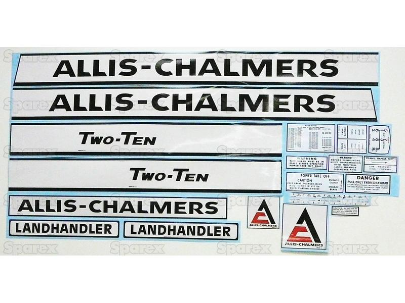 DECAL SET- ALLIS CHAMLERS 210