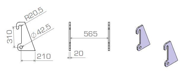 Aanlasdelen Giant / Fuchs schuin 20mm