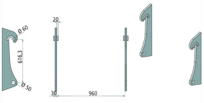 Aanlasdelen Kramer / Volvo / Zettelmeijer, 880 , L40, L45 ZL1001