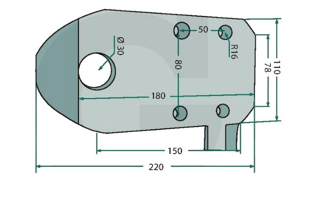 Adapterplaat Merlo voor originele Merlo producten