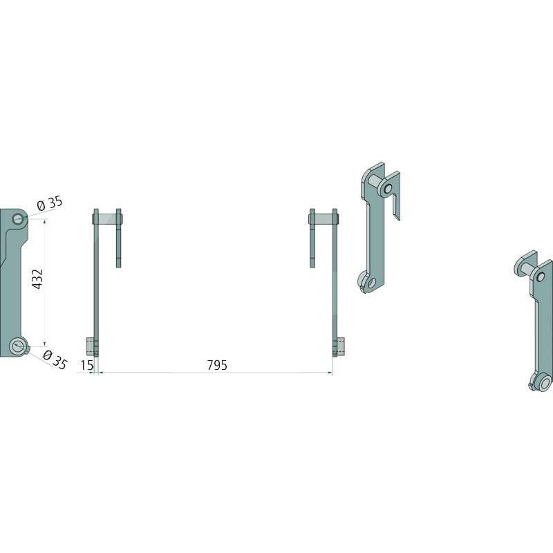 Aanlasdelen Terex, Schaeff, TL60, TL70, SKL 823 - 823, SKS 631