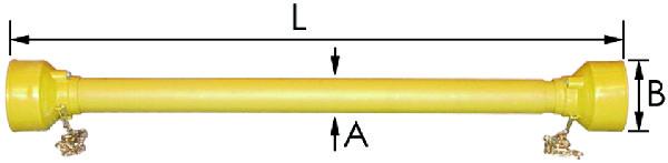 AFSCHERMING B5.6.7.8 W24-2500 L1040