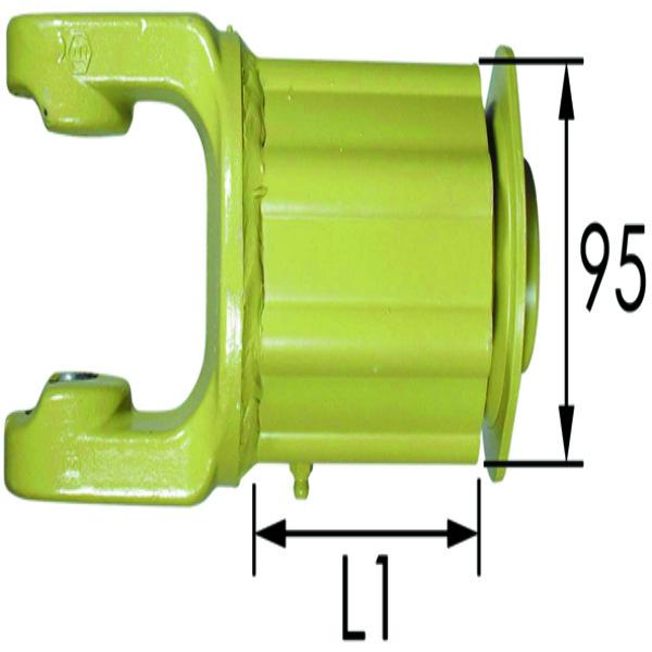 NOKKENSCHAKELKOPPELING 2R-3/8-Z6-KS.23,8X61,2