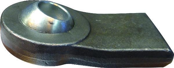 Aanlaseind plat schuin cat 2. 70mm