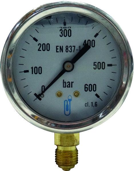 MANOMETER DIA 63 CL 1,6 GLY 0/600B VOOR PB12