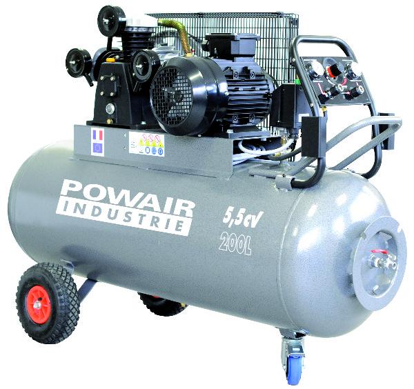 Compressor 200 L. - 9 Bar, 3 Cilinder, 5,5 CV