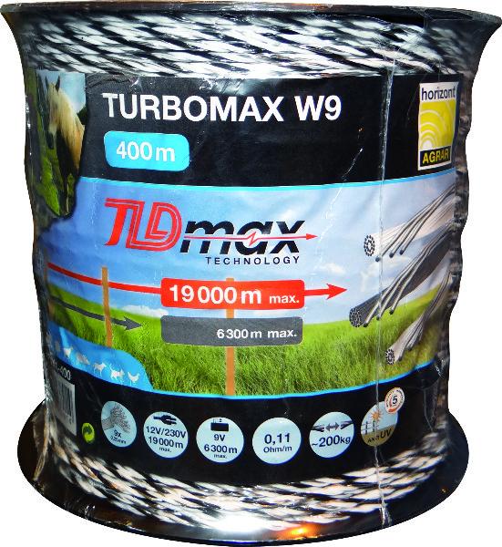 SPOEL 400M DRAAD TURBOMAX W9 WIT/GRIJS