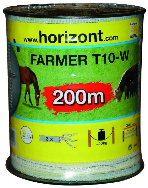 LINT FARMER T10-W 10MM WIT 3 RVS 200M