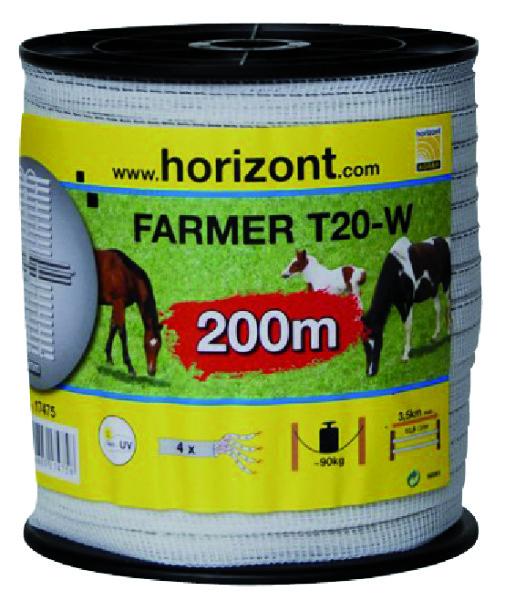 LINT FARMER T20-W 20MM WIT 4 RVS 200M