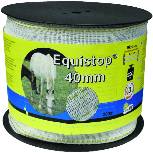 LINT EQUISTOP NYLO-RVS WIT/GEEL 40MMX200M