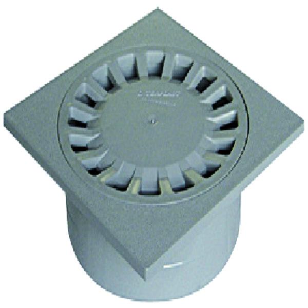 BINNENPLAATSSIFON ABS 150/40X50X63 GRIJS