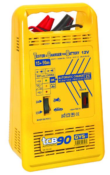 ACCULADER AUTO. 15-90AH 230V TCB90 GYS