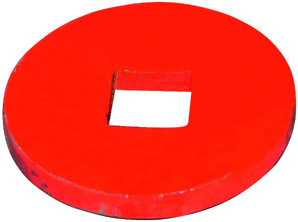 BOLLE EINDPLAAT D.150X15 VIERKANT GAT 41