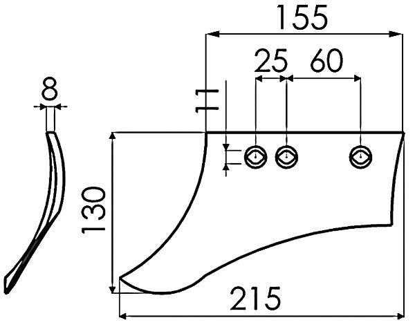 VOORSCHAAR LINKS 631017 KUHN (NIET-ORIG.)