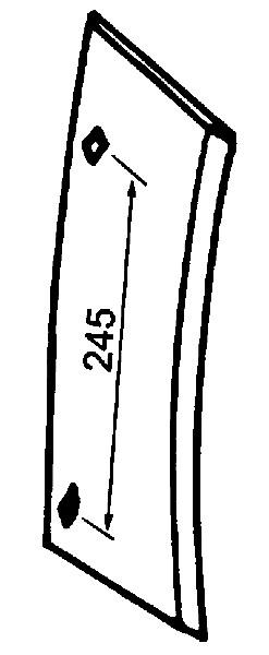INZETSTUK LINKS P173321 G&B (NIET-ORIG.)