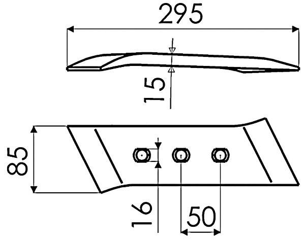 SCHAARPUNT OMK. L. 173331 G&B (NIET-ORIG.)