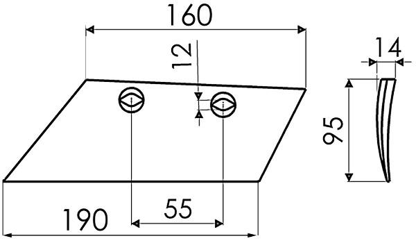 SCHAAR VERSTERKT R. 19114 G&B (NIET-ORIG.)