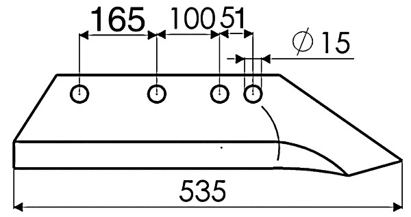SCHAAR VERSTERKT 14'' R. B737339 IHF(N-ORIG.)