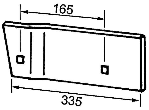 ZOOL VOOR LINKS B737115 IHF (NIET-ORIG.)