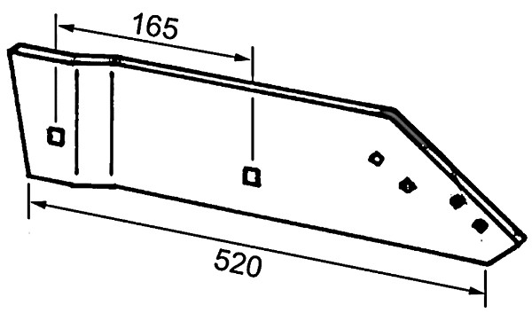 ZOOL ACHTER L. B737117 IHF (NIET-ORIG.)
