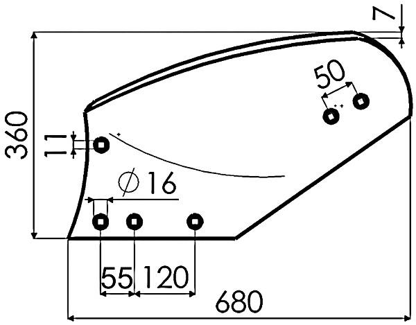 RISTER RECHTS P736229 IHF (NIET-ORIG.)