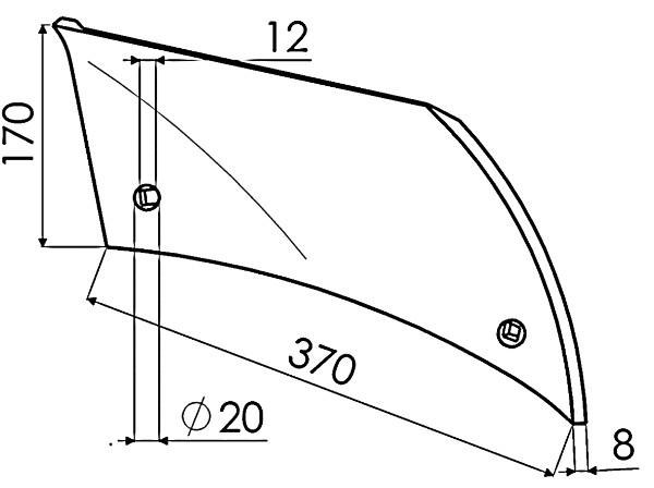 INZETSTUK R. P737568 IHF (NIET-ORIG.)