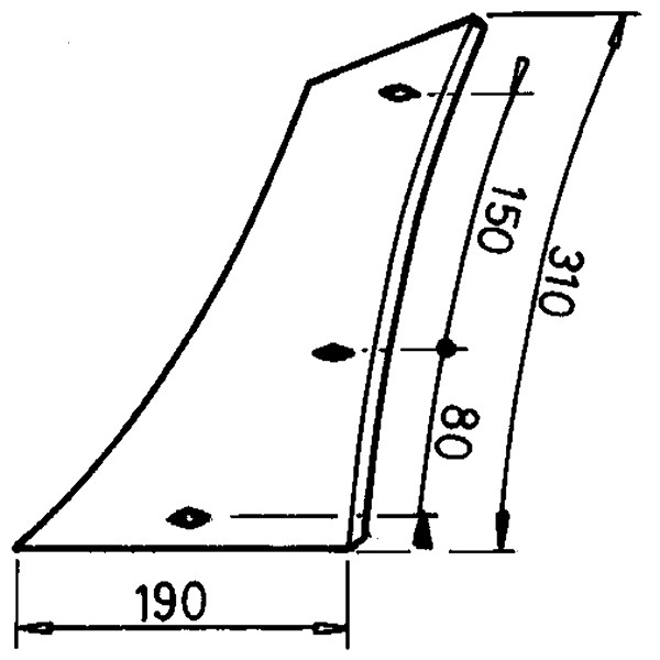 INZETSTUK LINKS P929425 KRONE (NIET-ORIG.)