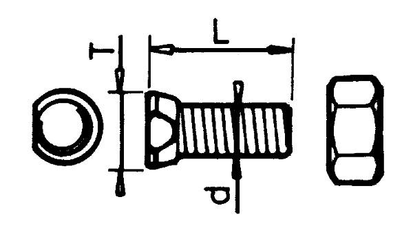 BOUT CONISCHE KOP 14X45 12.9 NAUD (25)