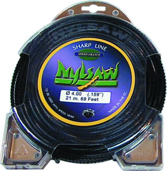 DRAAD ''NYLSAW'' D.4MM LENGTE:21M ZWART