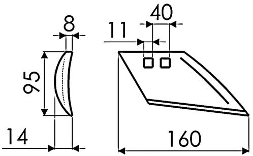 VOORSCHAAR LINKS G10278 IHF (NIET-ORIG.)